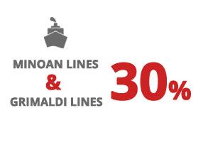 Πλοία προς Ιταλία - Grimaldi Lines 2021 – Συνδυαστική Έκπτωση